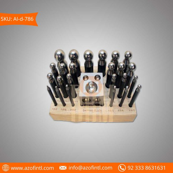 25 PCS Doming-Dapping-Block-Punch-Set-Wood-Stand